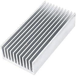Disipador de aluminio calor obstinado enojo 80 millimeter x40 milímetro x20 millimeter tono plata