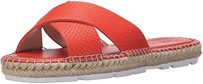 Nine West Women'S Demetria Leather Dress Sandal, Red/Orange, 37 B(M) EU/5 B(M) UK