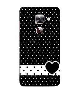 PrintVisa Designer Back Case Cover for Letv 2S Leeco Lle 2 Letv2Pro (Blackish dotted superb heart image)