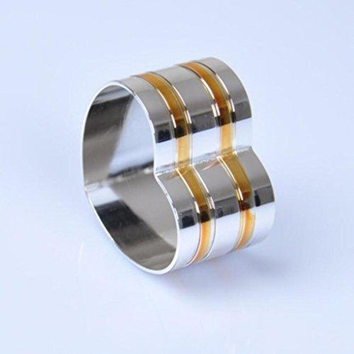Liuyu Küche Haus Mode Serviette Ring Handtuch Schnalle Hochzeit (größe : 10 Pcs/Set)