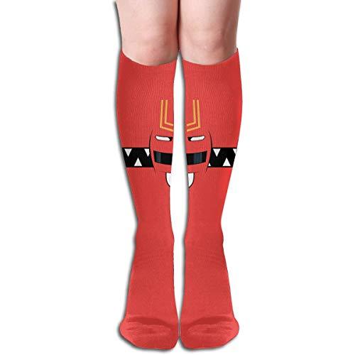 tianjianzulinyouxiangongsi Power Rangers Design Elastic Blend Long Socks Compression Knee High Socks (50cm) for Sports