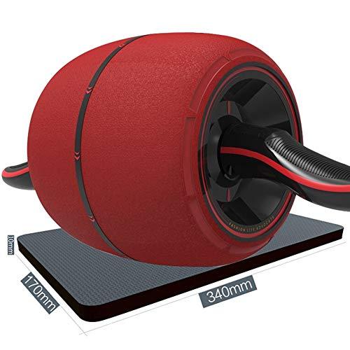 JIANFEI Ab Abdominal Roller Intelligente Bremse Rostfreier Stahl Rutschfester Griff, 2 Farben, Typ 2 (Farbe : Red, größe : A-43.7x19x19cm)