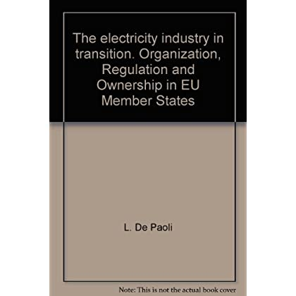 The Electricity Industry In Transition. Organization, Regulation And Ownership In Eu Member States