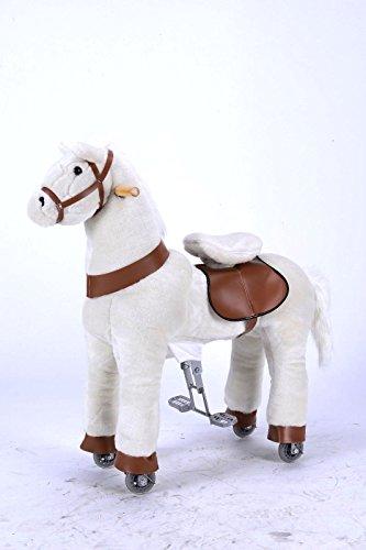 Nouveau bébé enfant enfants Teenage Blanc Pony – Clip TM Ride/Cycle Mode Cheval à bascule – Medium  meilleurs à partir de Royal Kiddy + jusqu'à 60 kg de charge + réglable Cycle
