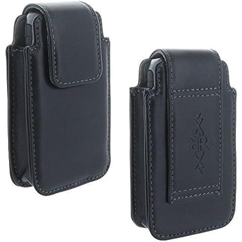 XiRRiX universal para Ancianos Teclas Grandes Teléfono Funda de piel Holster en varios tamaños