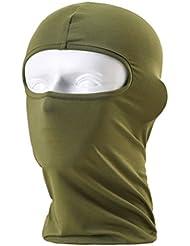 Wildguarder fast dry a prueba de polvo a prueba de viento de montar bicicletas Ciclismo lycra elastica cosplay máscara completa ventilar la navidad campana pasamontañas (Green)