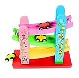 WXX Kleinkindspielzeug, 1 Jahre Alter 2 Jahre Alter Junge und Mädchen Geschenk Rennbahn Rennbahn Rennen mit 4 Mini-Autos,M