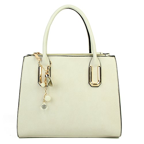 Craze London - Borsa A Spalla Ragazza Donna Unisex Neonati White