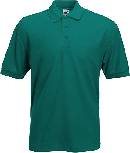 Preisvergleich Produktbild Fruit of the Loom Piqué Poloshirt aus Mischgewebe 63-402-0, Farbe:Emerald;Größe:L