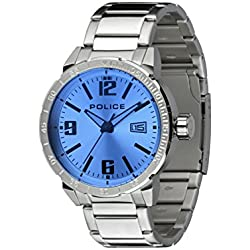 Police Men's Quartz Watch with Silver Dial Analogue Display and Silver Stainless Steel Bracelet 14328JS/04M
