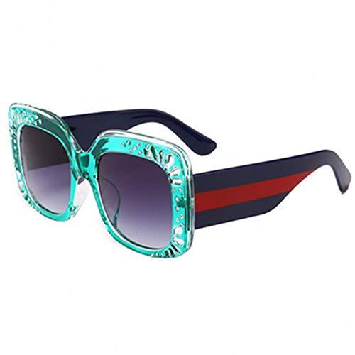 SYQA Übergroßen quadratischen Rahmen Strass Sonnenbrille Damenmode Brillen Sonnenbrille weiblich,A4