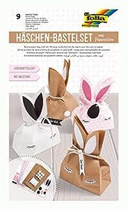Folia 41291 - Juego de Manualidades de Conejo de Bolsas de Papel, para Crear 9 Conejos, con Instrucciones (Idioma español no garantizado), Ideal como Bolsa de Regalo para pequeñas carnavales