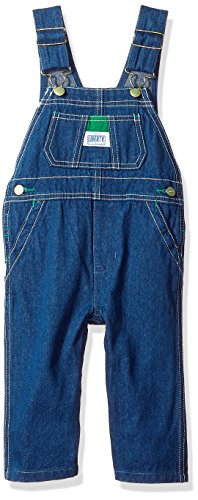 Walls Toddler Washed Denim Bib Overalls Snap Crotch 6 Months by Liberty -