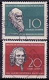 Briefmarken DDR 1958, Mi.Nr. 631-632, Darwin und Linné, Gestempelt