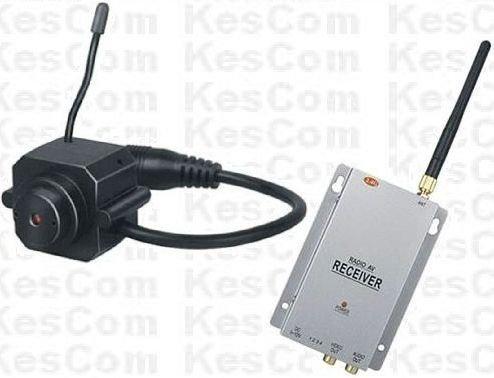 Aus Farb-mini-kamera (KesCom® 203N Mini Farb Funk Kamera Security Überwachung , Kanal 1 bis 4 erhältlich (nicht einstellbar) inkl. 4 Kanal Empfänger 2,4 GHZ)