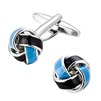 Cufflink for Men - Blue and Black