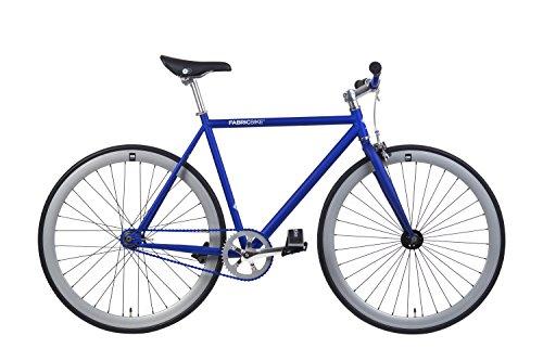 FABRICBIKE  BICICLETA FIXIE AZUL  PIÑON FIJO  SINGLE SPEED  CUADRO HI TEN ACERO  10KG (MATTE BLUE & GREY  L 58CM)