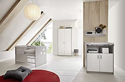 Schardt 034934602Cuna-Classic Grey, 60x 120cm, color blanco