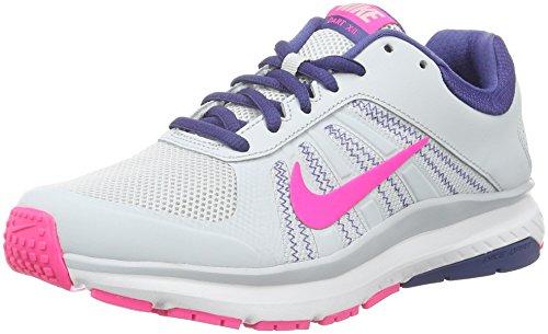 Nike Damen Dart 12 Laufschuhe, Grau (Pure Platinum/Pink Blast/Dark Purple Dust), 39 EU
