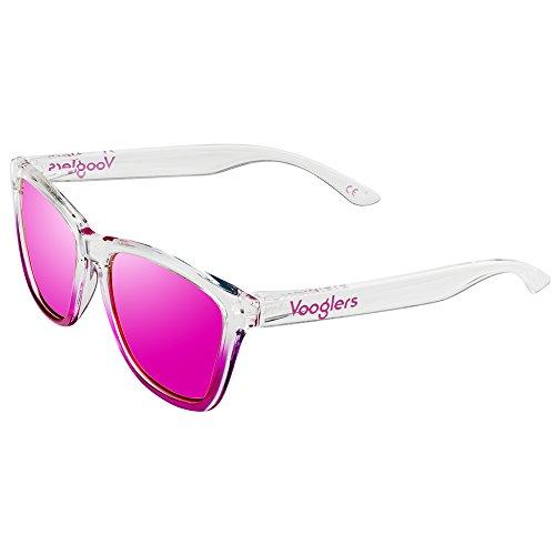 33436b820b6f Gafas de Sol Mujer Unisex Polarizadas UV400 Vooglers California Beach  Cristales Lentes Rosas Espejo Bicolor Rosa