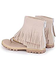 Beauqueen Sandalen Frauen Sommer Quaste Plain Scrub Reißverschluss Frauen Casual Schuhe Special Größe Europa 32-47