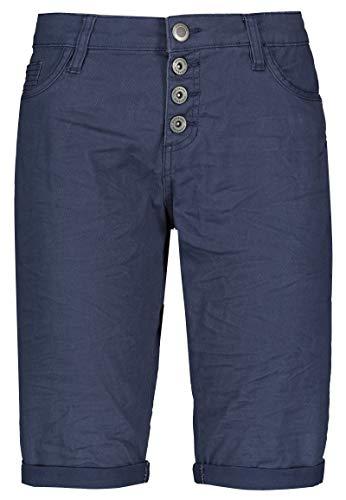 Stitch & Soul Damen Bermuda-Shorts mit Aufschlag Dark-Blue M -