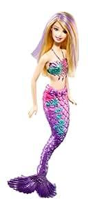 Barbie - T7405 - Poupée Mannequin - Barbie Sirene  - Violette
