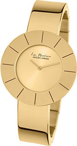 JACQUES LEMANS WOMEN'S LA PASSION 37MM GOLD PLATED CASE QUARTZ WATCH LP-128C