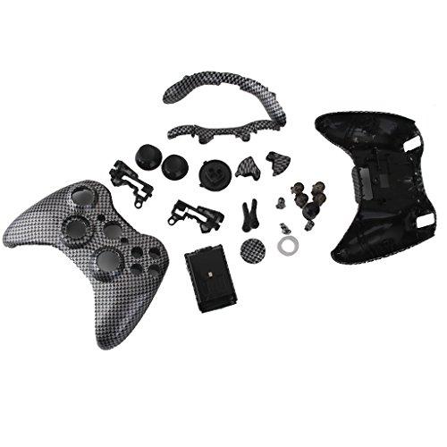 Vollgehäuseschale Fall Kits Für Xbox 360 Wireless Controller -kohlepapier Korn