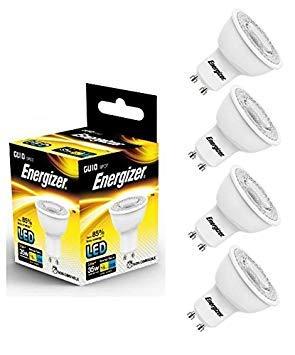 4x Energizer GU10LED Spot Leuchtmittel 255lm 3,6W = entspricht 35W Cool White 4000K 36° Batterie 4er-pack Energizer