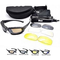Polarizado Daisy X7 Ejército táctico militar ejército gafas al aire libre gafas 4 lentas gafas de sol gafas de sol para pesca, escalada, caza y excursionismo