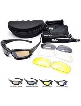 Polarizado Daisy X7 Ejército táctico militar ejército gafas al aire libre gafas 4 lentas gafas de sol gafas de...