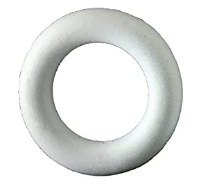 Italveneta Didattica 9070-Juego 20Coronas Planas diámetro 100mm Anillo poliestireno para decoración Blanco