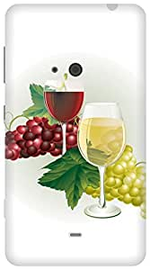 The Racoon Grip grapes wine hard plastic printed back case / cover for Nokia Lumia 625