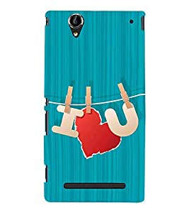 Fiobs Designer Back Case Cover for Sony Xperia T2 Ultra :: Sony Xperia T2 Ultra Dual SIM D5322 :: Sony Xperia T2 Ultra XM50h (Heart Red Love Lines Pattern Design Lovely)