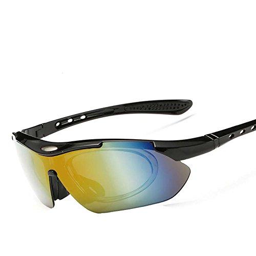 SUDOOK Polarisierte Sport-Sonnenbrille für Männer Frauen mit 5Austauschbare Objektive Radfahren Laufen Fahren Angeln Golf Baseball Gläser, Glasses-2