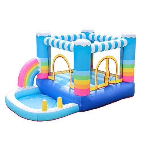 Bouncy Castles Inflatable Cartoon Trampoline Outdoor Large Toy Children's Entertainment Slide Gift For Children (Color : Color, Size : 290 * 200 * 225cm)