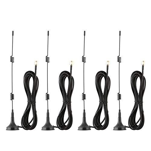 Tonton Magnetfuß Antenne 7dBi Hochleistungs-Antenne WiFi Signal Booster Verstärker für IP Kamera Netzwerk Empfänger 3M Kabel Externe Antenne NVR Externe Antenne für Überwachungskamera - Externe Netzwerk-kabel