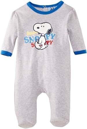 Snoopy HM0317 Baby Boy's Pyjamas Light Grey Melange/Palace Blue 3 Months