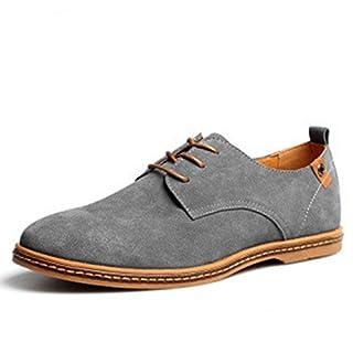 Anzugschuhe Herren Business Schuhe Wildleder Oxford Hochzeit Schnürhalbschuhe Anzug Leder Derby Männer Lederschuhe Elegant Schwarz Braun 38-48 GY46