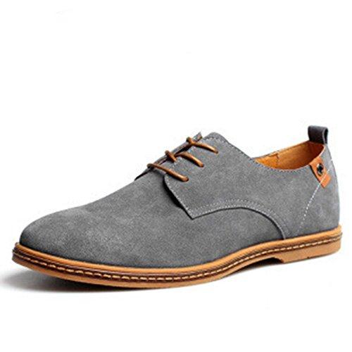 Scarpe uomo pelle eleganti stringate, derby vintage classica basse matrimonio casual estive suede oxford scamosciato cuoio sneakers moda nera marrone 38-48 gy41
