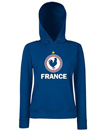 T-Shirtshock - Sweats a capuche Femme WC0049 FRANCIA FRANCE Bleu Navy
