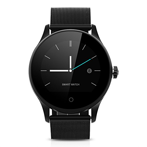 K88H Smartwatch Orologio Intelligente Fitness Tracker Chiamate/Messagi Reminder Pedometro,Nero