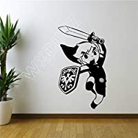 haochenli188 Cartoon Legend of Zelda Sticker Wall Room Decor Art Poster Gaming Vinyl Decal DIY Mural Nursery Nursery Room   58x34cm