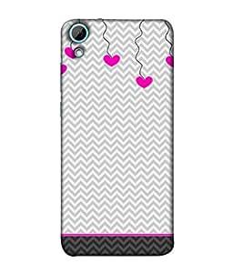 Fuson Designer Back Case Cover for HTC Desire 628 :: HTC Desire 628 Dual Sim (Yellow Flower Checks Lines Stars)