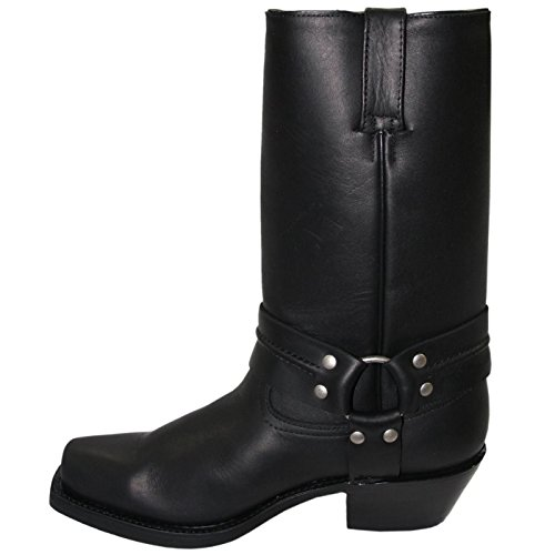 Grinder Mens 2001 Harness Hi Leather Boots Noir