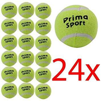 Lot de 24 balles de tennis pour jouer avec le chien Pour l'extérieur plage loisirs  (l'emballage peut varier)