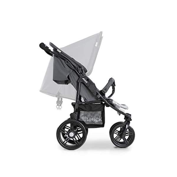 Hauck Roadster Duo SLX Double Pushchair, Grey/Silver, 14 kg Hauck Twin and sibling stroller suitable for two children or new-borns by combining it with the separately available hauck 2 in 1 carrycot, this pushchair holds 2 x 15 kg Fits through doors despite the children sitting side by side, roadster duo slx fits through doors and elevators as it measures 76 cm only Comfy both backrest and footrest come with sun hood, as well as large shopping baskets and are individually adjustable up to lying position; the pushchair is easy to fold away with one hand 14
