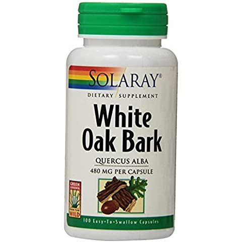 Solaray White Oak Bark Capsules, 480 mg, 100 Count by Solaray