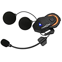 FreedConn T-MAX Bluetooth 4.1 Helmet Intercom System 1000M سماعة رأس لاسلكية للدراجة النارية IPX65 مقاوم للغبار ومقاوم للماء 6 راكبي هاتف مزدوج كامل مع راديو FM